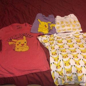 Pikachu short sleeve shirt bundle.
